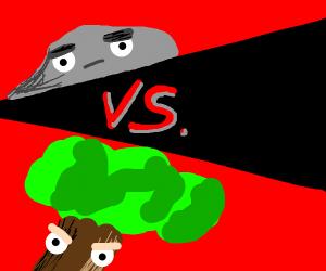Stone Man vs Tree