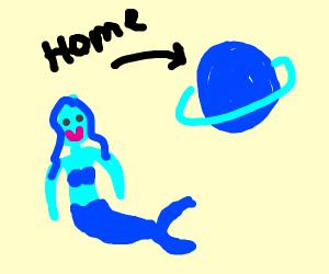 Mermaid from an Alien Planet
