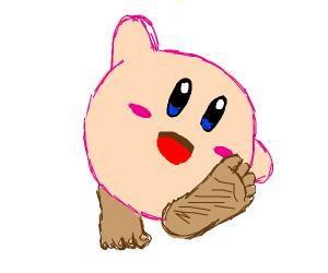 Kirby with human feet
