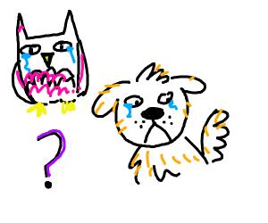 Sad owl doggo is sad?