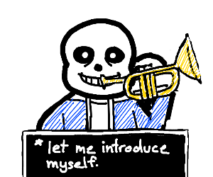 Sans introduces himself with trumpet