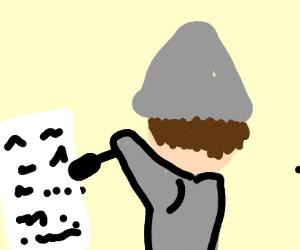 Burglar Writing