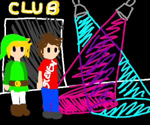 Walk into the club like link and steven