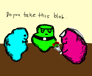 Colorful blobs wedding