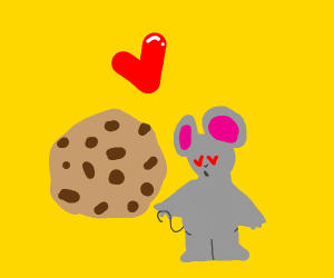 A mouse that likes cookies