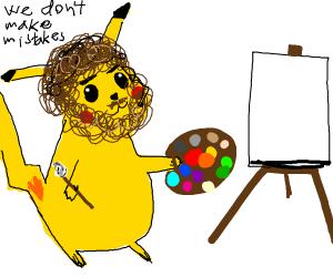pikachu bob ross