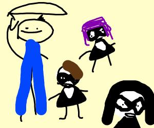 Umbrella academy but shittily drawn