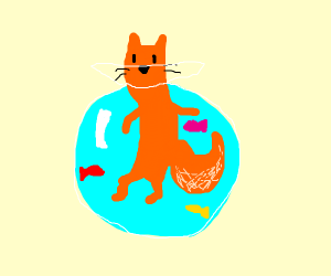 fox in a fishbowl