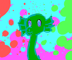 Psychedelic Loch Ness monster