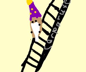 Potato Wizard climbing the corporate ladder