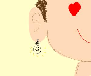 I love my lightbulb earings