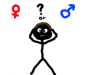 Person confused about gender identity
