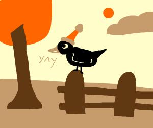Happiness crow