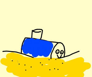 Thomas the tank drowning in quicksand