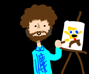 Bob draws SpongeBob