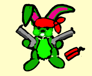 Wabbit with fire power