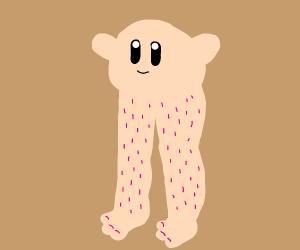 Kirby with big legs