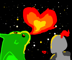 Night and dragon in love