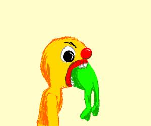 yellmo eateing kermit the frog :V