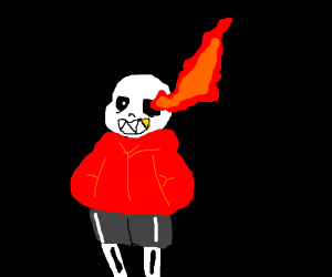 edgy/scary/spoopy/has red sans eyes    demon