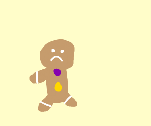 gingerbread man lost his arm