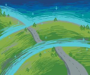 Glowing hills