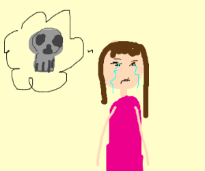 crying girl wants to die