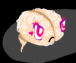 Cute but angry brain