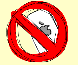 No Apple smartphones allowed