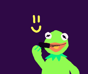 Kermit the Frog is happy to attempt suicide