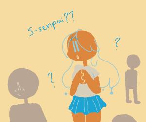 Water-chan looking for Senpai owo