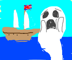 ghost is shocked at British boat