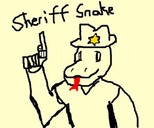 Snake sheriff
