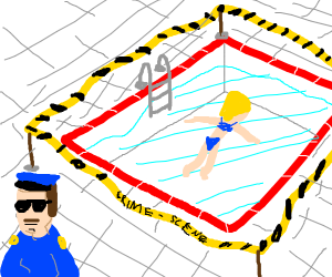 pool closed due to murder scene