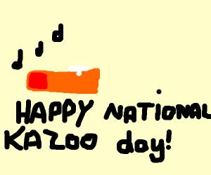 Happy National Kazoo Day (January 28)
