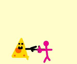 cheese meets a pink man