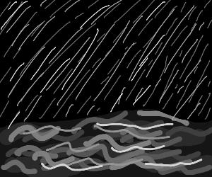 raining on the ocean
