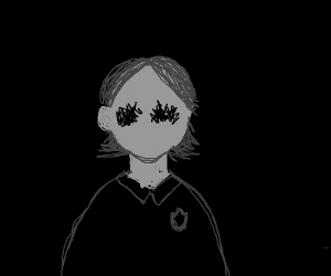 A cool school kid with no face