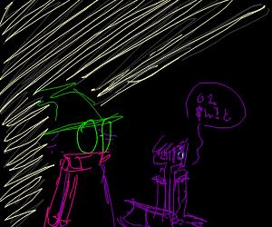 Susie (Deltarune) is overshadowed by Ralsei