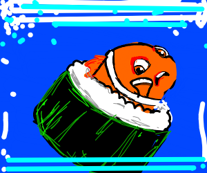 Nemo gets turned into sushi