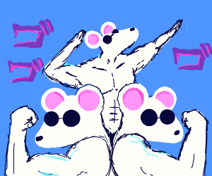 Three blind (and super buff) mice