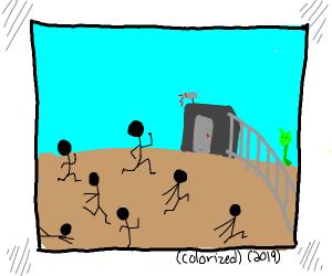 Raiding Area 51 in 2019. (colorized)