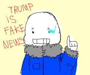 "Sans claims Trump is ""Fake News''"
