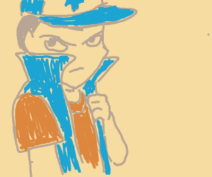 Man with Dipper's outfit.