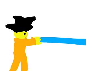 Goku doing a hamahamahaaaaaaaa