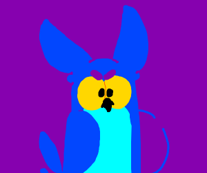 The Tootsie Pop Owl but blue