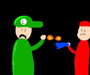Luigi Fights a Fireman