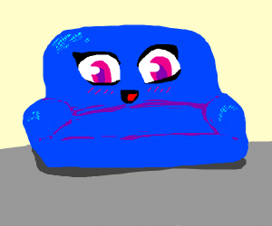 Kawaii Blue Couch