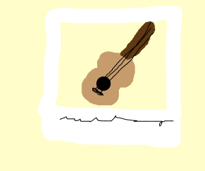Polaroid of a guitar