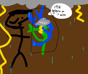 Weather man and Weather agree its gonna rain